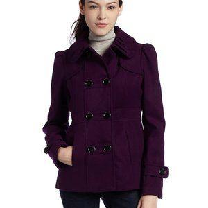HYDRAULIC Purple Double Breasted Pea Coat